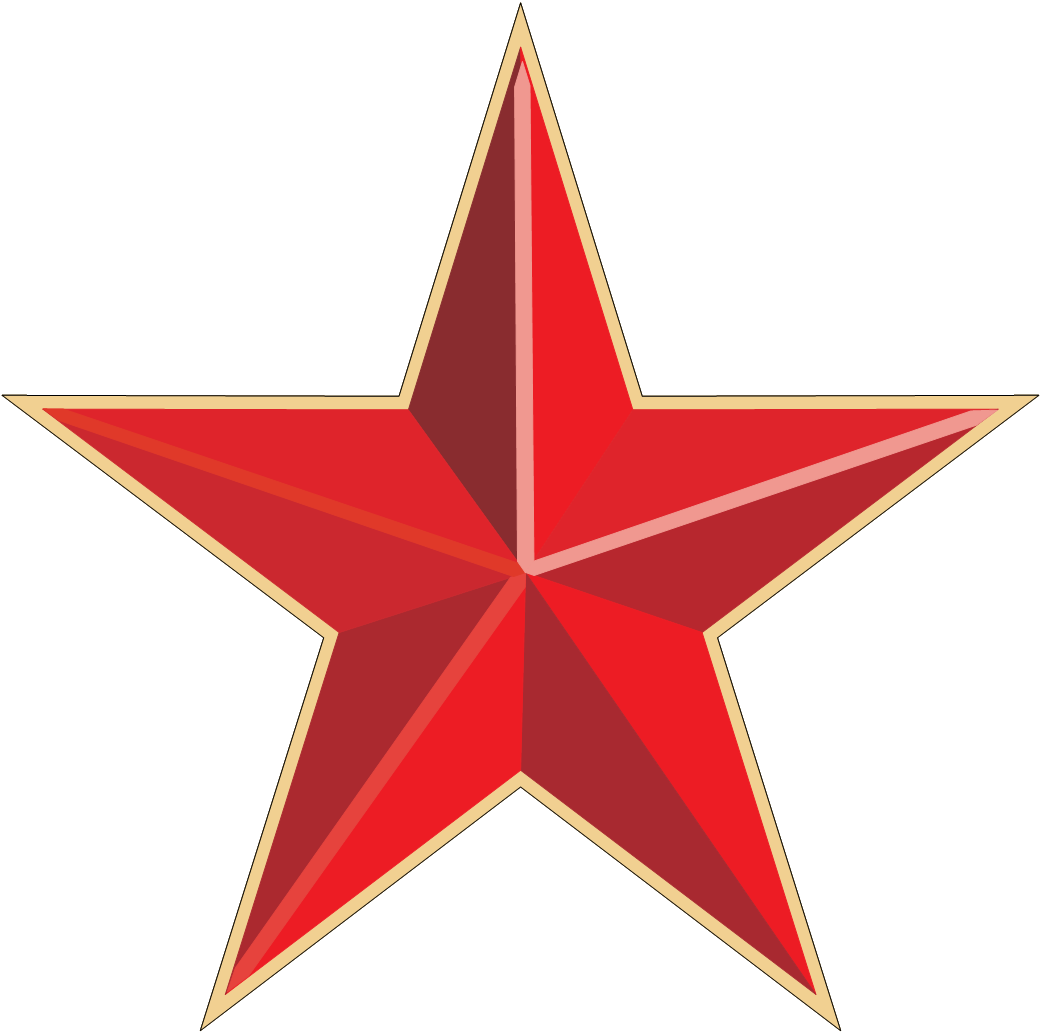 Red star PNG images free download.