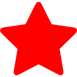 Red star 8 icon.