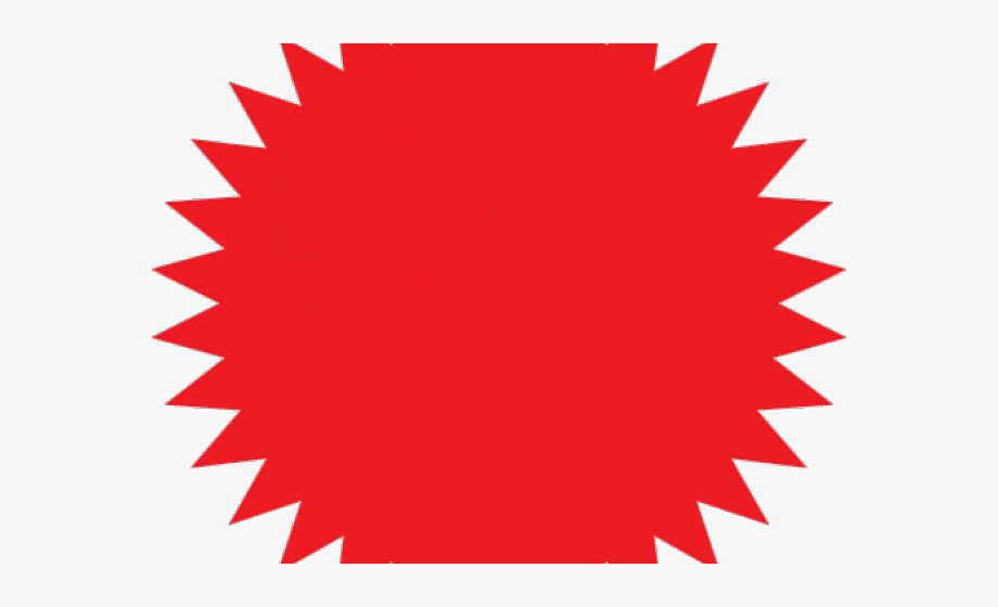 Starburst Clipart Red Starburst.