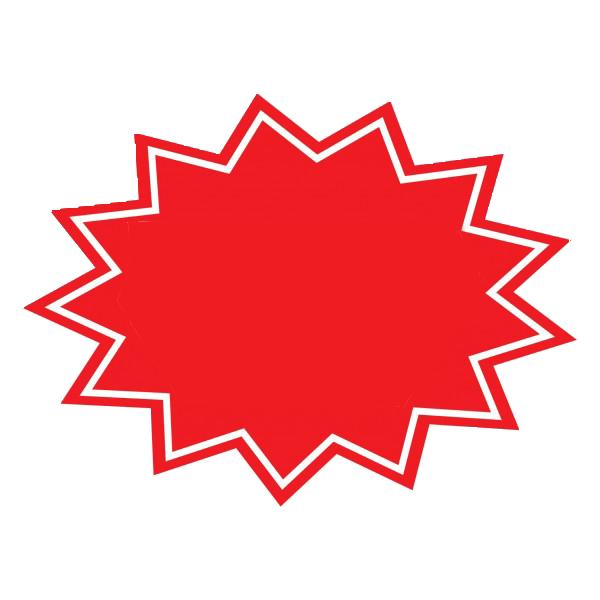 Red Starburst Png.