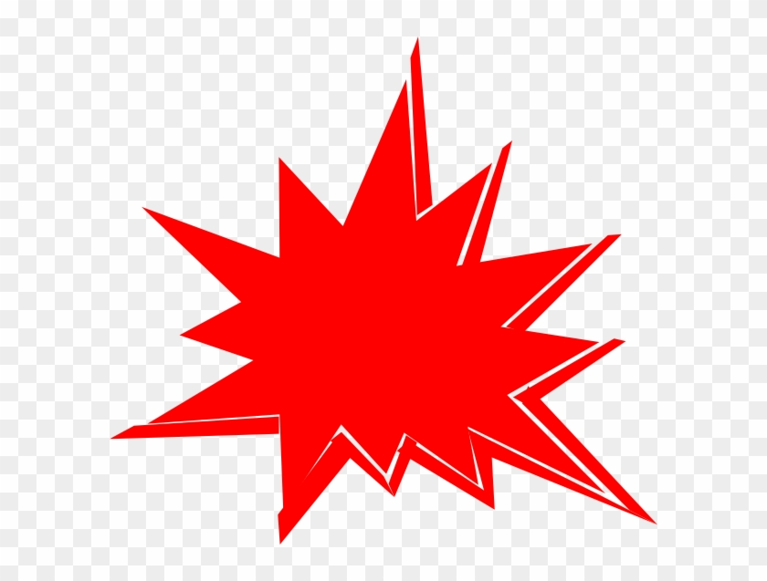 Red Starburst Clip Art.