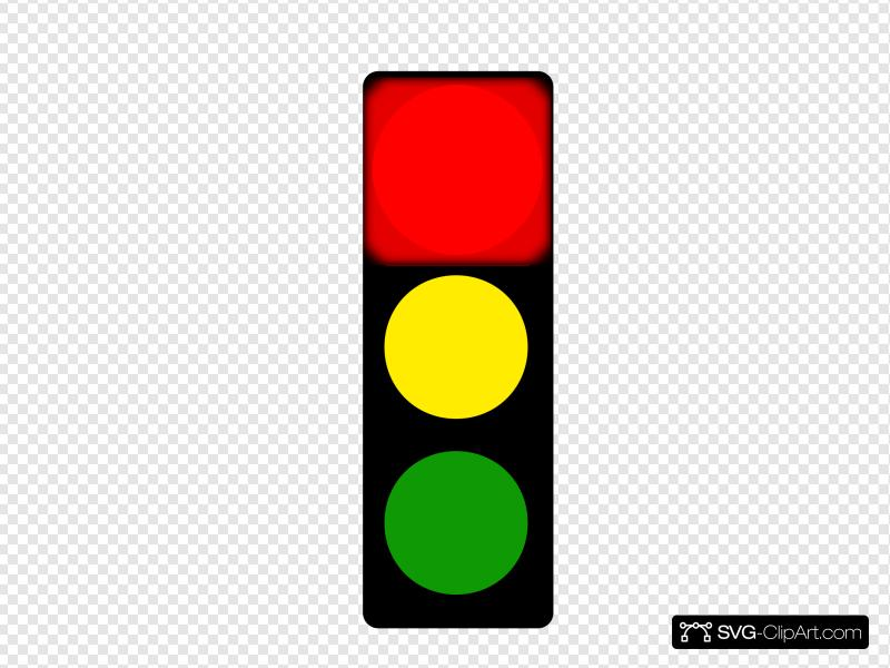 Red Stop Light Clip art, Icon and SVG.