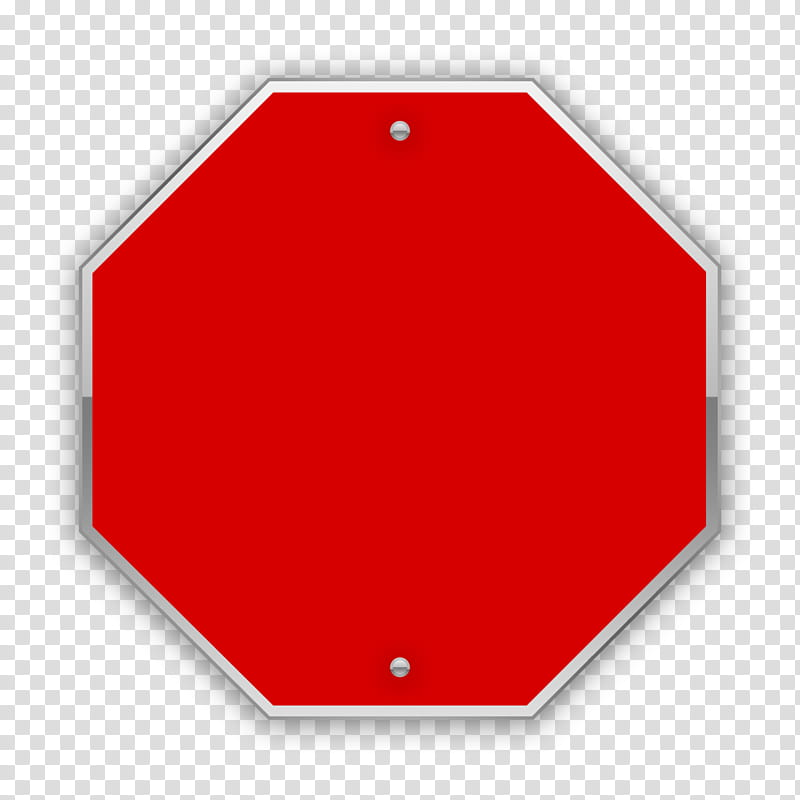 Sign s, red Stop road signage art transparent background PNG.