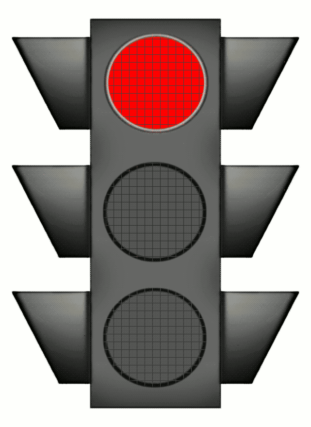 Clipart Red Stop Light.