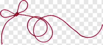 Red thread cutout PNG & clipart images.