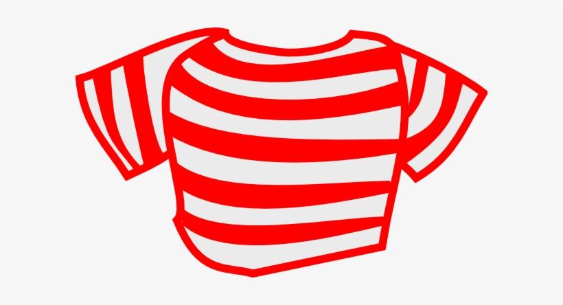 Red Striped Shirt Clip Art.