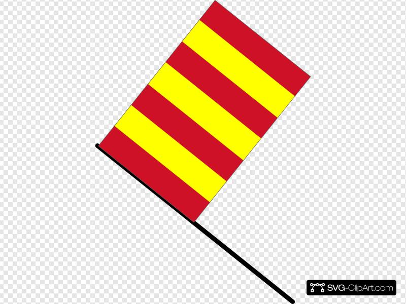 Yellow And Red Striped Flag Clip art, Icon and SVG.