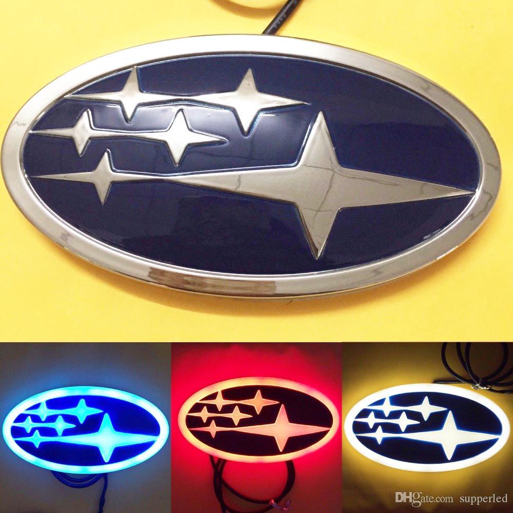 Newest Design 4D Stylish LED Logo Decoration Badge Emblem Light For Subaru  Forester Legacy XV Red/White/Blue Option Strobe Light Kits For Vehicles.