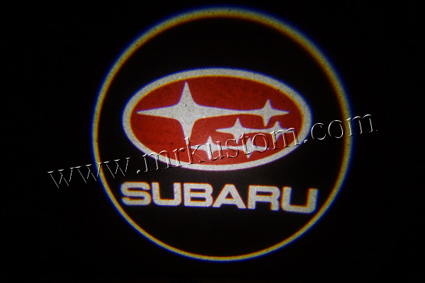Subaru LED Door Projector Courtesy Puddle Logo Lights Red.