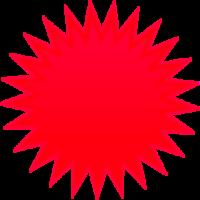 Red Sun Clip Art.