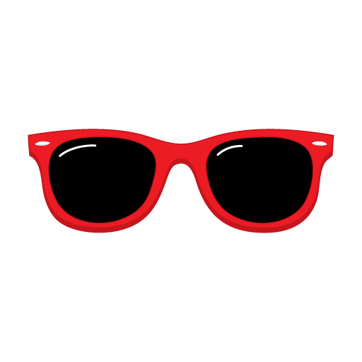 Red sunglasses clipart pic #585.