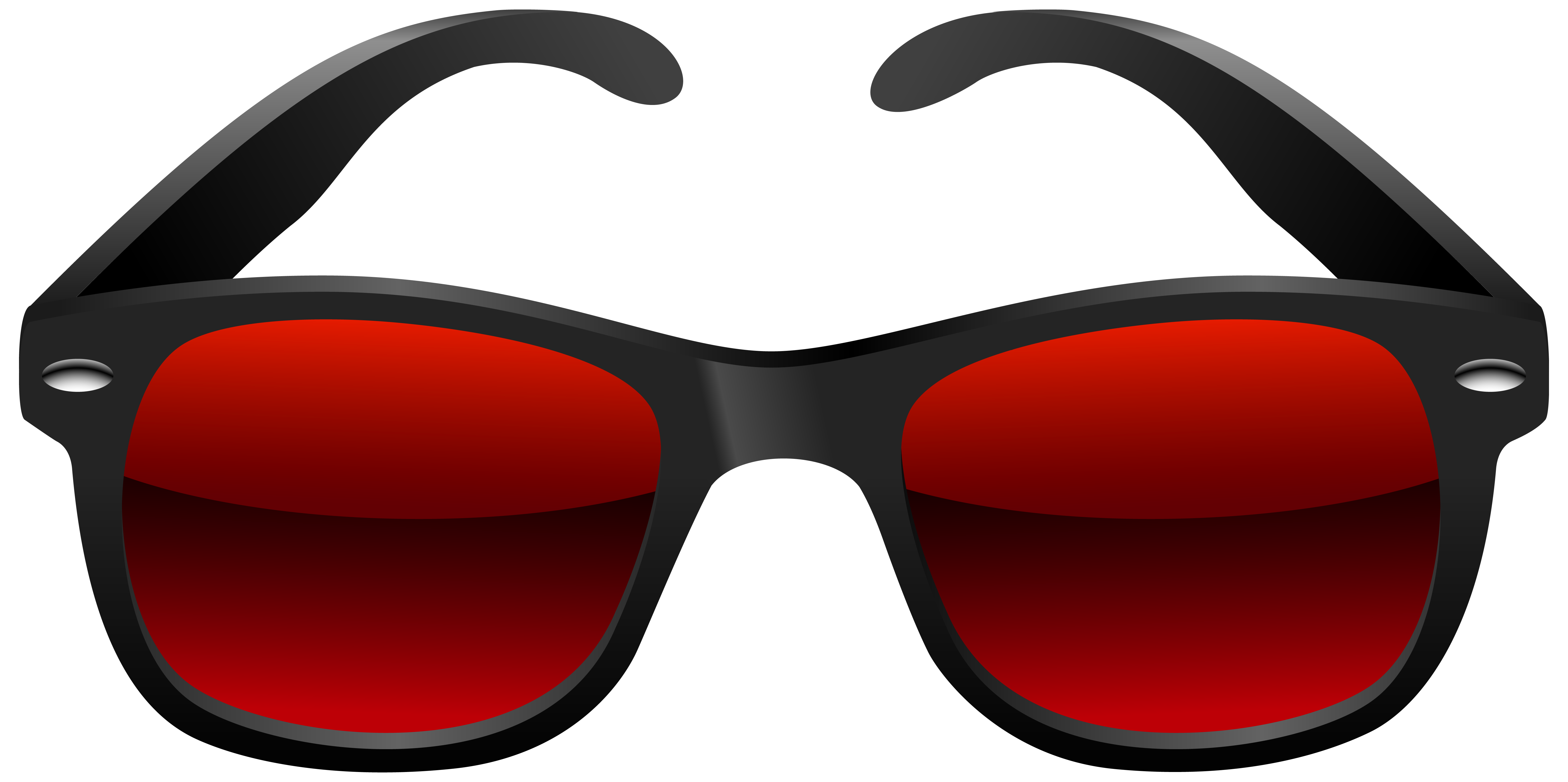 Black and Red Sunglasses PNG Clipart Image.