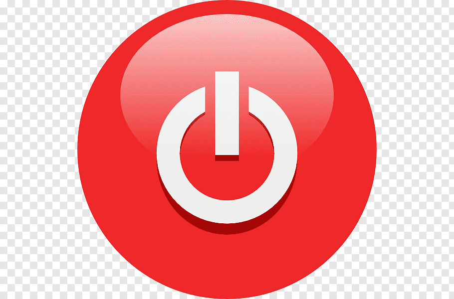 Red and white button logo, Push.