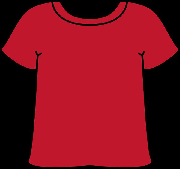 Red Tshirt Clip Art.