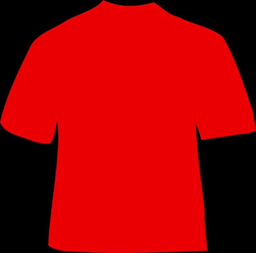 red t shirt clip art at clker vector clip art online intended for.