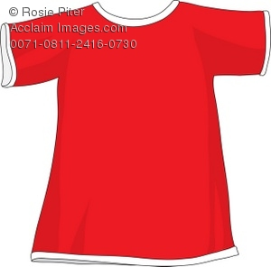 Royalty Free Clipart Illustration of a Red T.