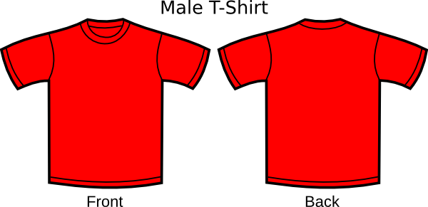 Red t shirt clipart.