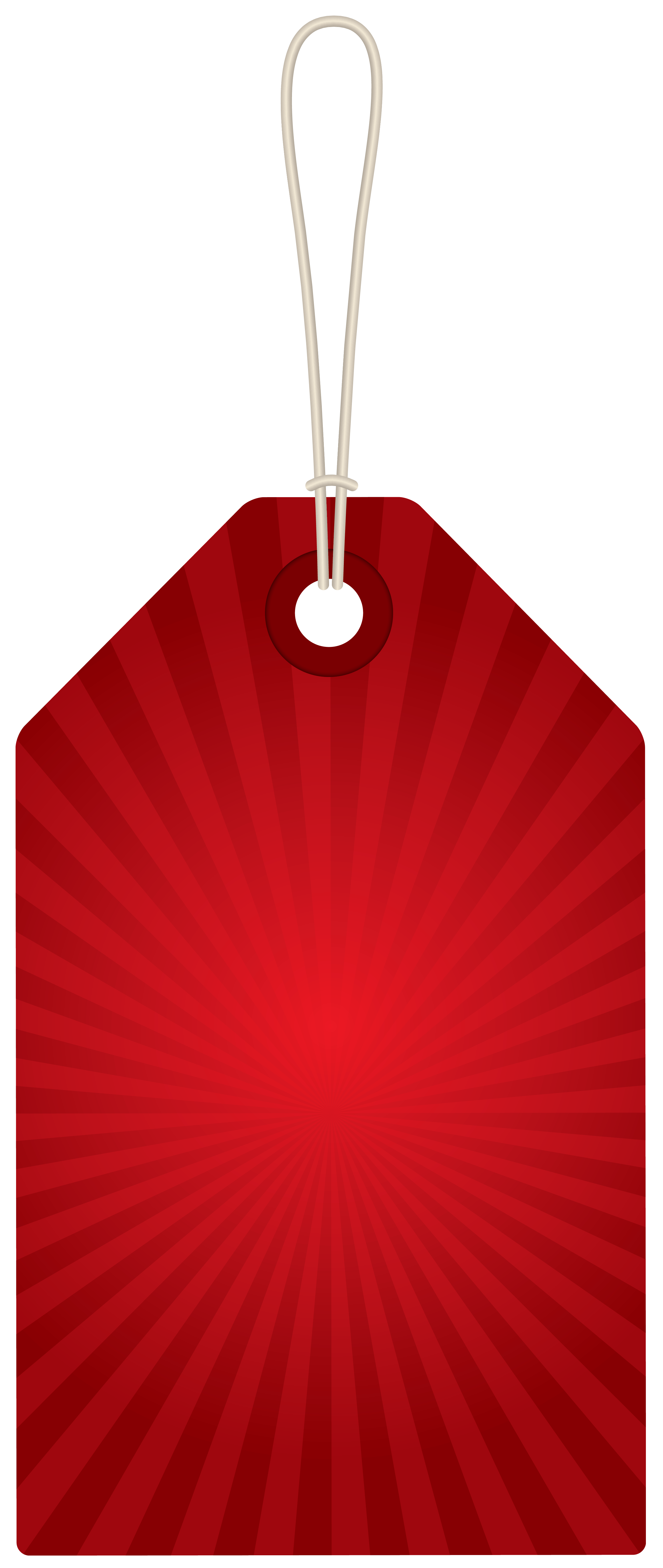 Red Label PNG Clipart Picture.