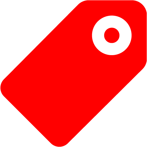 Red tag 5 icon.