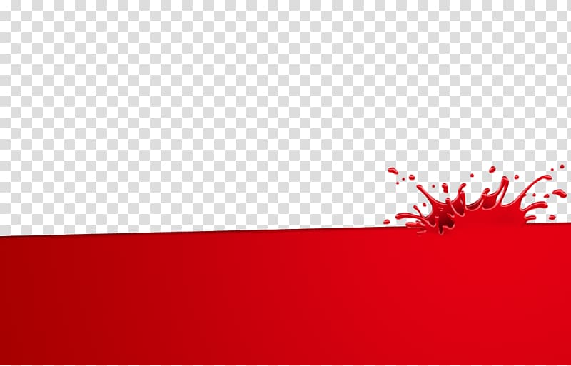Splash of red paint illustration, Water splashing water wave.