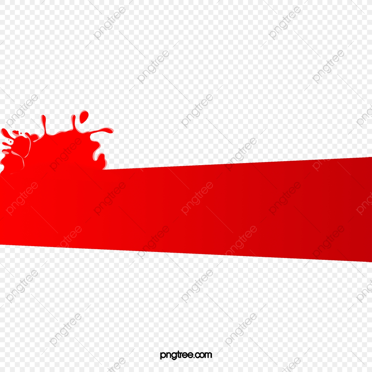 Water Splashing Water Wave Red Tape, Water Clipart, Wave.