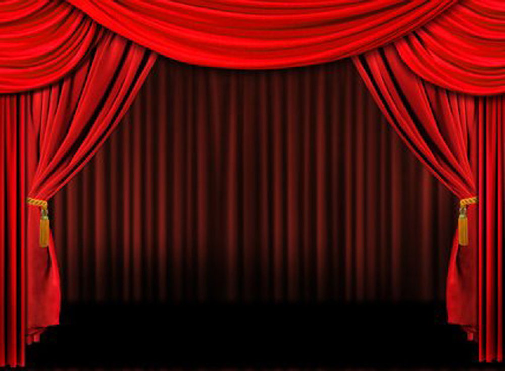 red theater curtain clipart #6