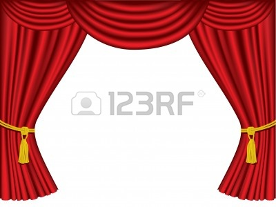 red theater curtain clipart #10