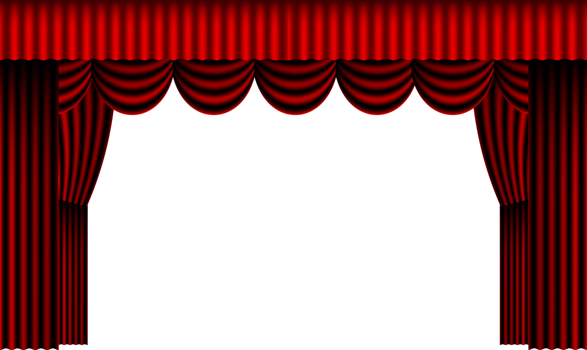 red theater curtain clipart #8