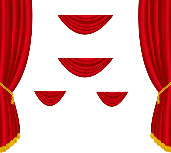 Red Curtain Clipart Png.