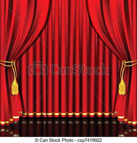 Vector Illustration of Stage Curtain.