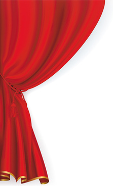 red theater curtain clipart #17