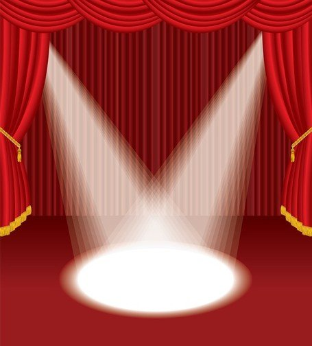 red theater curtain clipart #14