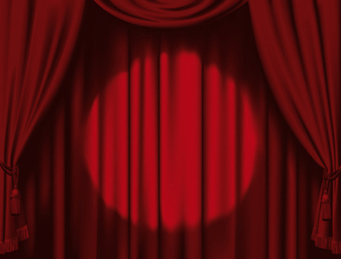 red theater curtain clipart #15