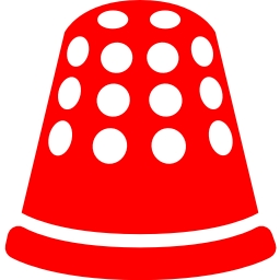 Free red thimble icon.