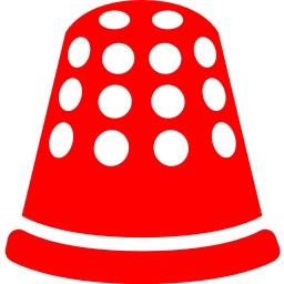 Free red thimble icon.