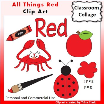 Red Things Clip Art Color personal & commercial use.