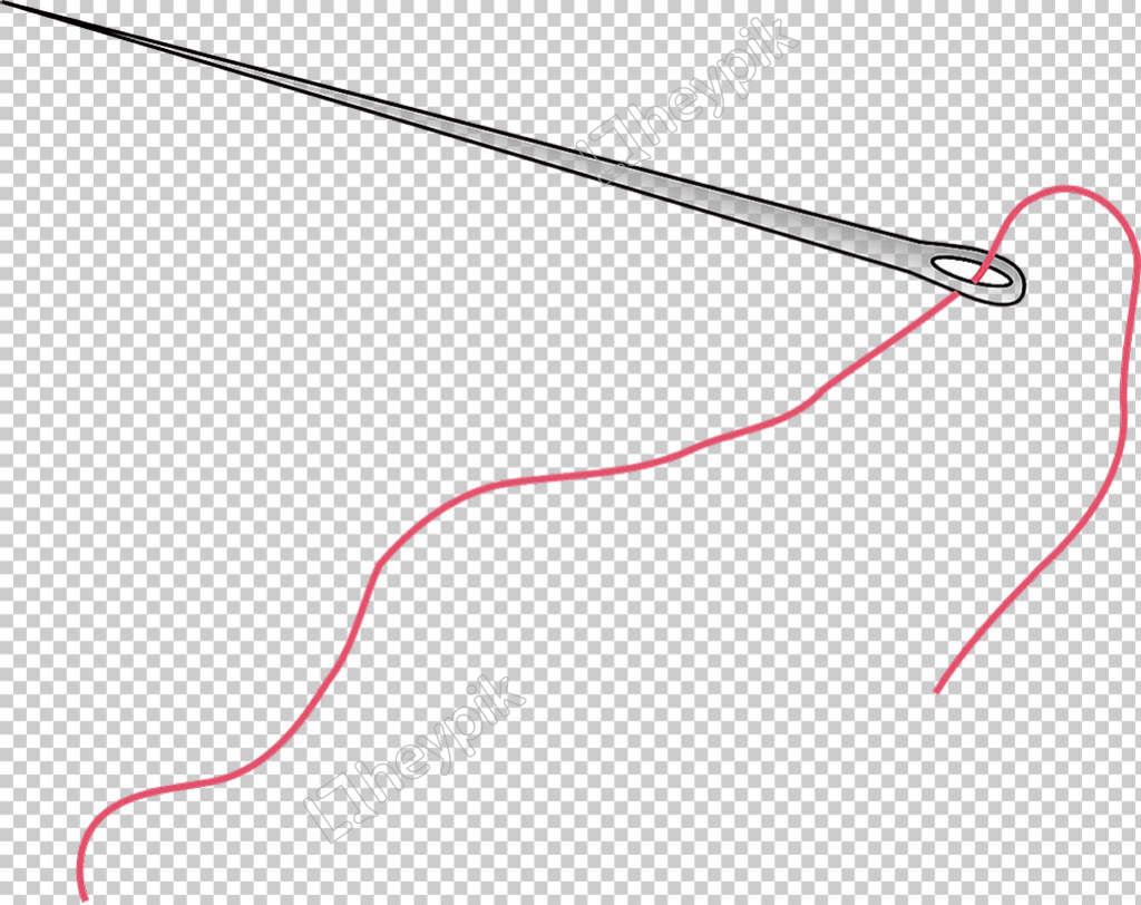 Download Free png Red Thread Sewing Needles Free PNG.