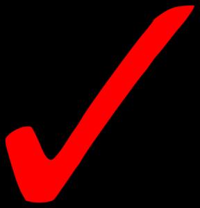 Bright Red Tick Clip Art at Clker.com.
