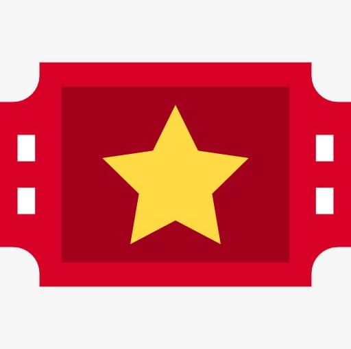 Red Movie Tickets PNG, Clipart, Cartoon, Five Pointed, Five.