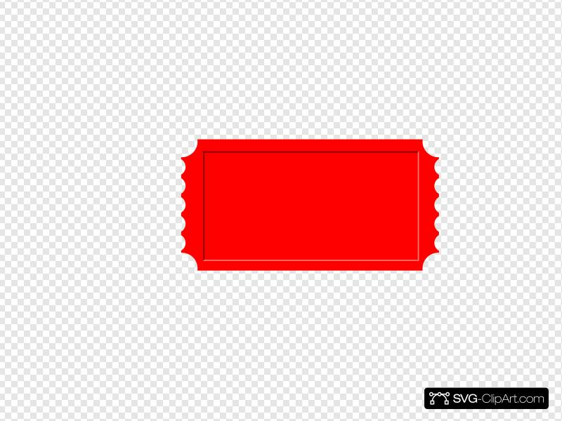 Red Ticket Clip art, Icon and SVG.