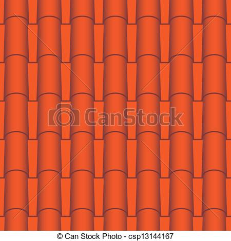 Clip Art Vector of Roof tile seamless.