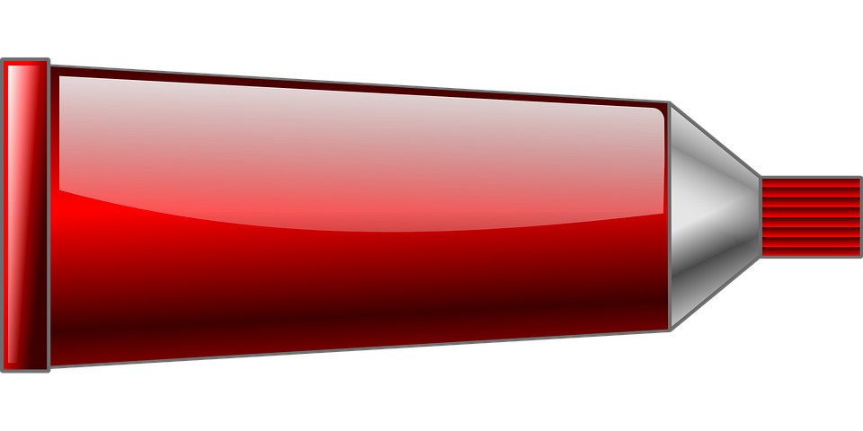 Red color tube clipart.