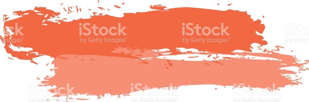 Two Red Tint Brushstroke Paint stock vector art 647842890.