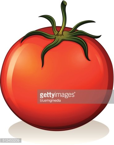 Red tomato Clipart Image.