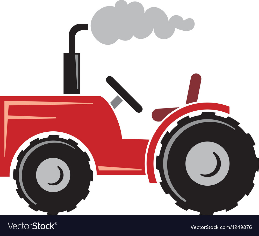 Red tractor.