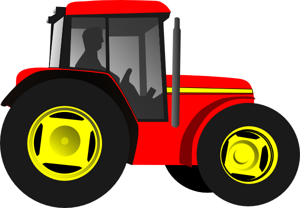 Red Tractor Clip Art.