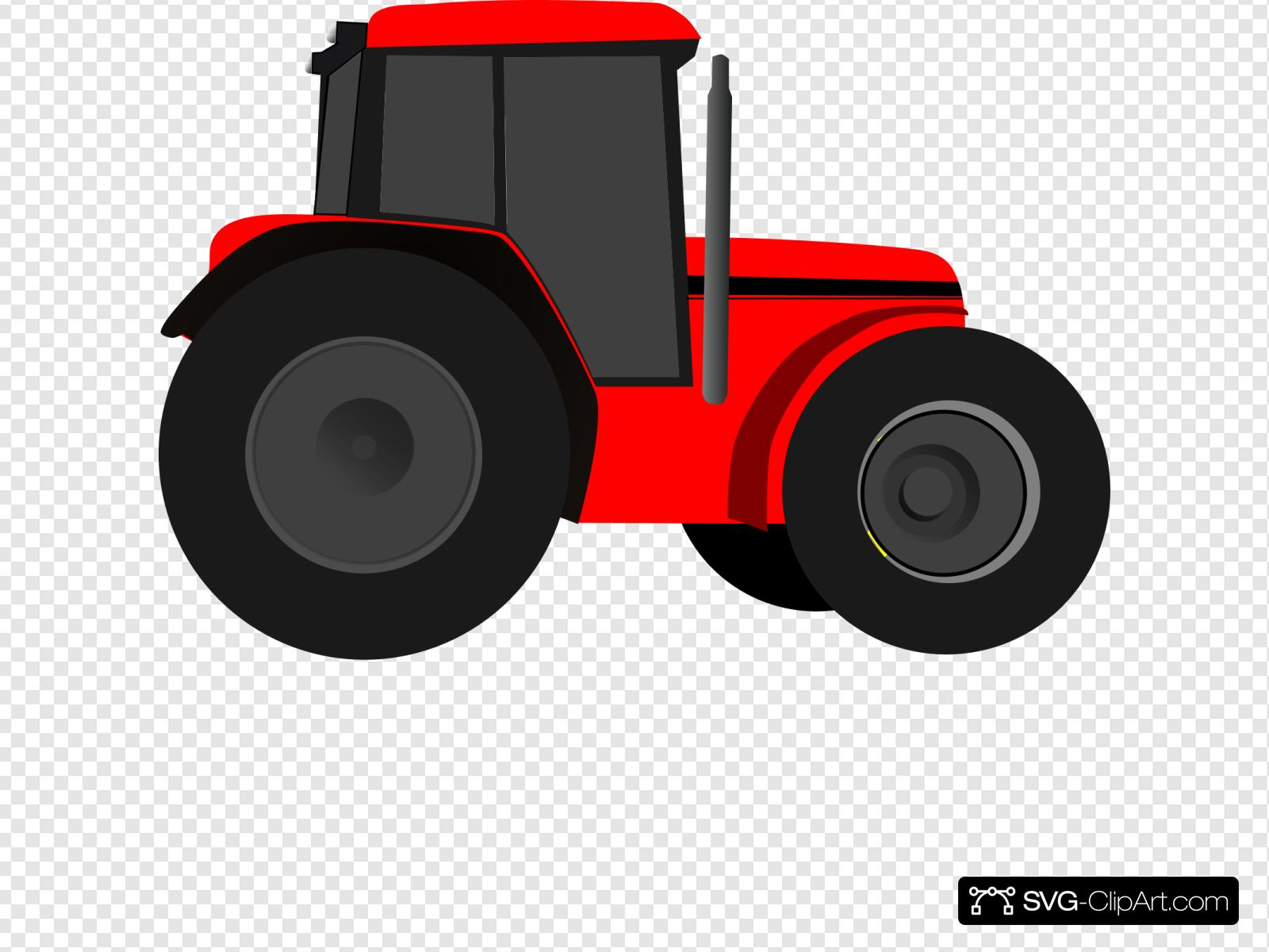 Red Tractor Clip art, Icon and SVG.