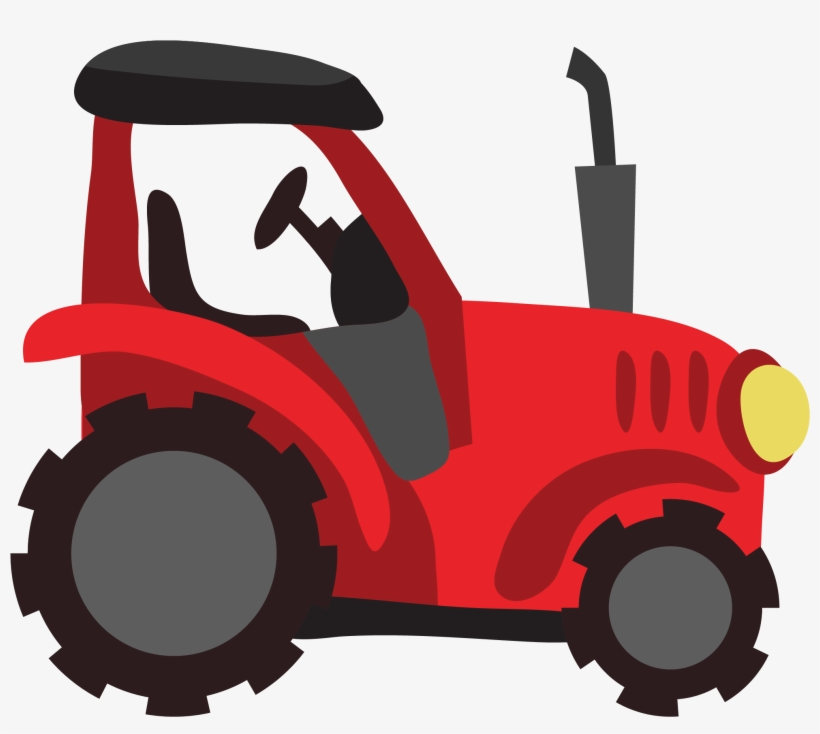Tractor Clipart Red Farm.