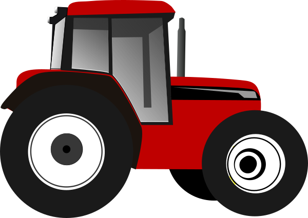 Red Tractor Clip Art at Clker.com.