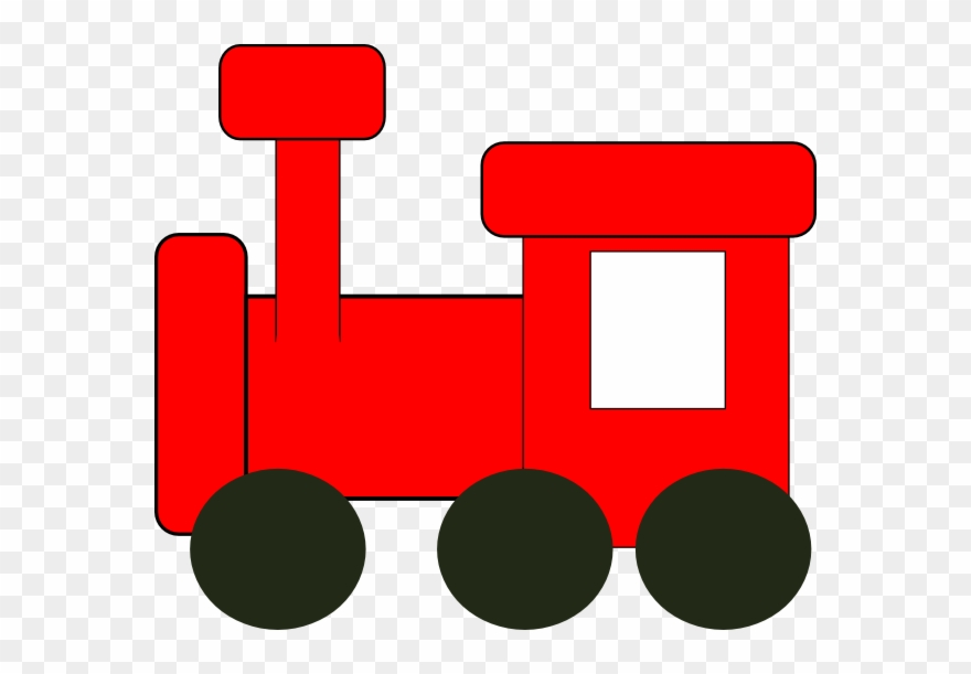 Red Train Clip Art.